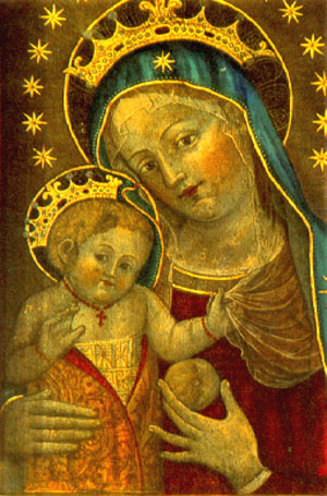 A Holy Mother with Child Painted by Saint Catherina from Bologna